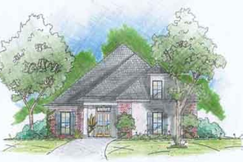 Southern Exterior - Front Elevation Plan #36-435 - Houseplans.com