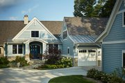 Ranch Style House Plan - 4 Beds 5 Baths 4938 Sq/Ft Plan #928-293 Exterior - Front Elevation