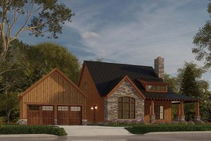 Craftsman Exterior - Front Elevation Plan #923-178