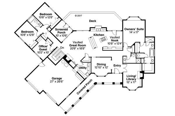 Ranch Floor Plan - Main Floor Plan Plan #124-188