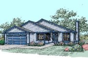 Traditional Style House Plan - 3 Beds 2 Baths 1438 Sq/Ft Plan #60-407 Exterior - Front Elevation