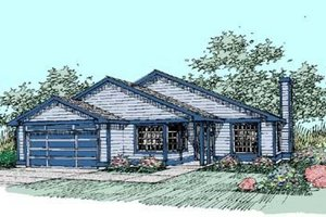 Traditional Exterior - Front Elevation Plan #60-407