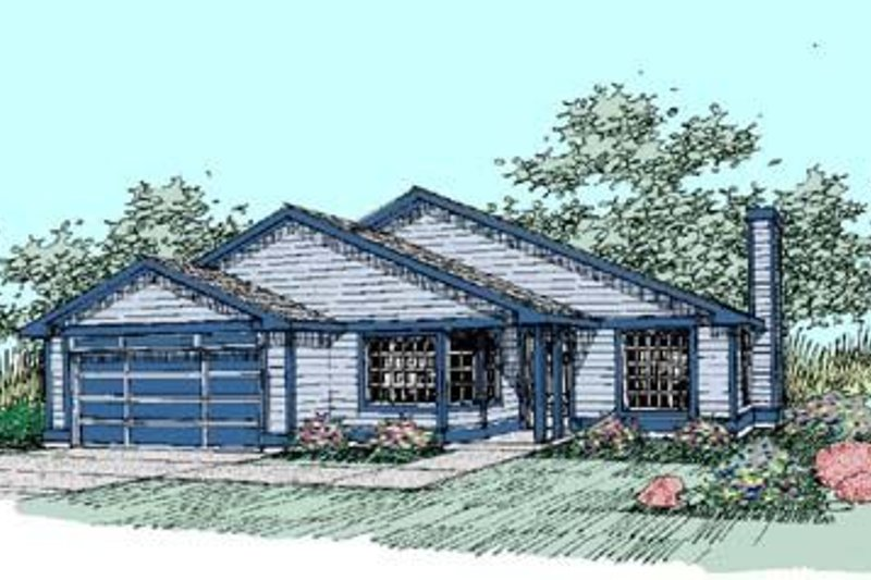 Traditional Exterior - Front Elevation Plan #60-407 - Houseplans.com