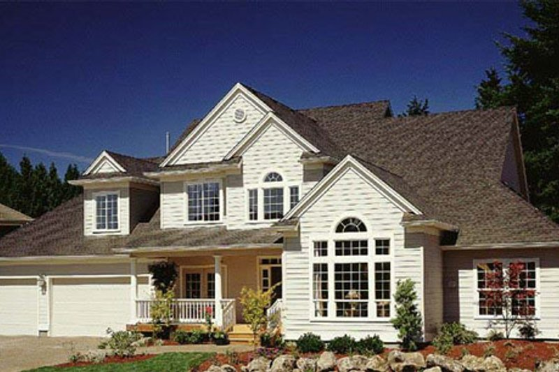 Architectural House Design - Traditional Exterior - Front Elevation Plan #48-142