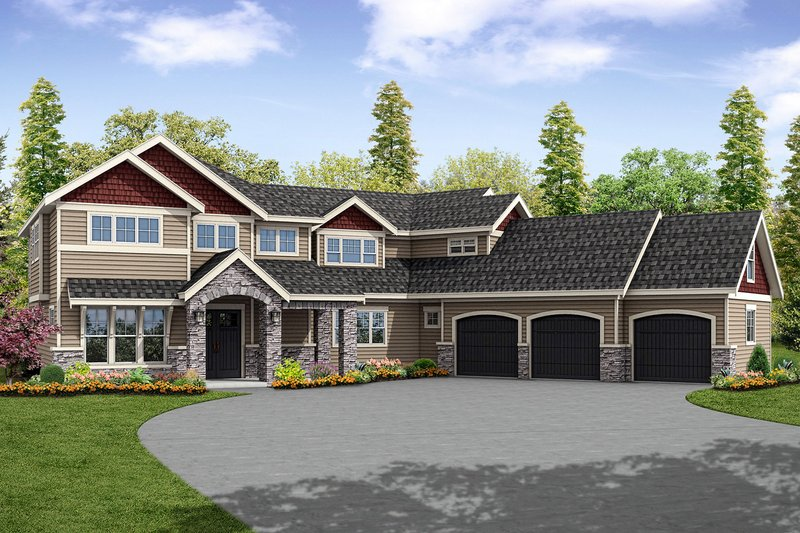 Dream House Plan - Traditional Exterior - Front Elevation Plan #124-1033