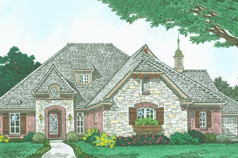 European Exterior - Front Elevation Plan #310-1314