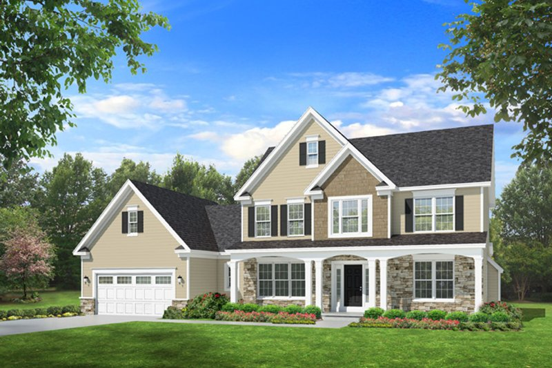 Traditional Exterior - Front Elevation Plan #1010-94 - Houseplans.com
