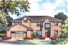 Architectural House Design - Country Exterior - Front Elevation Plan #1015-54