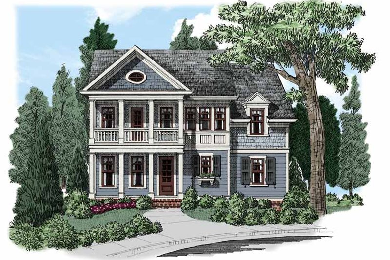 Colonial Exterior - Front Elevation Plan #927-501