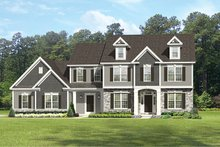 Colonial Exterior - Front Elevation Plan #1010-175