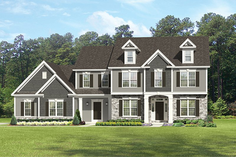 Colonial Exterior - Front Elevation Plan #1010-175 - Houseplans.com