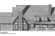 European Exterior - Rear Elevation Plan #70-544