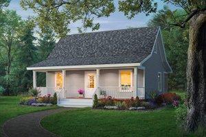 Cottage Exterior - Front Elevation Plan #21-213