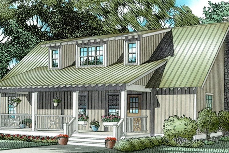 Country Exterior - Front Elevation Plan #17-3177 - Houseplans.com