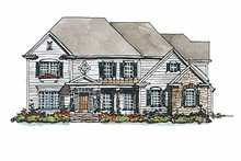Home Plan Design - Colonial Exterior - Front Elevation Plan #429-176