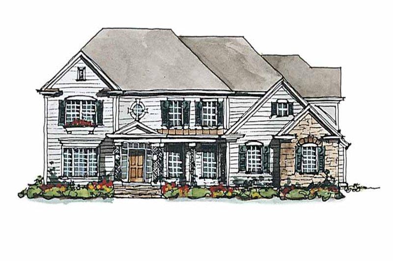 Colonial Exterior - Front Elevation Plan #429-176 - Houseplans.com