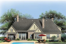 European Exterior - Rear Elevation Plan #929-914