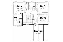 Traditional Floor Plan - Upper Floor Plan Plan #20-2185