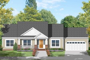 Country Exterior - Front Elevation Plan #1053-19