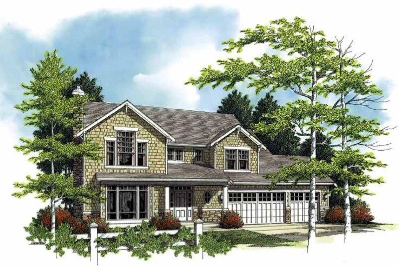 Craftsman Exterior - Front Elevation Plan #48-790