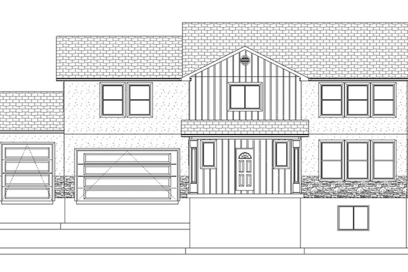 Traditional Exterior - Front Elevation Plan #1060-15 - Houseplans.com
