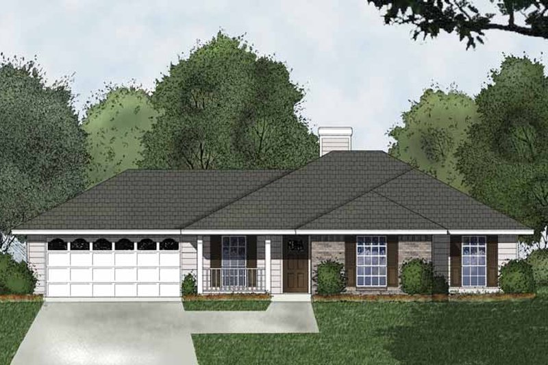 Traditional Exterior - Front Elevation Plan #40-493 - Houseplans.com