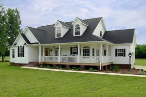 Ranch Exterior - Front Elevation Plan #314-200