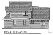 Traditional Style House Plan - 3 Beds 2.5 Baths 1666 Sq/Ft Plan #70-272 Exterior - Rear Elevation