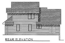 Traditional Exterior - Rear Elevation Plan #70-272