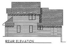Traditional Exterior - Rear Elevation Plan #70-272