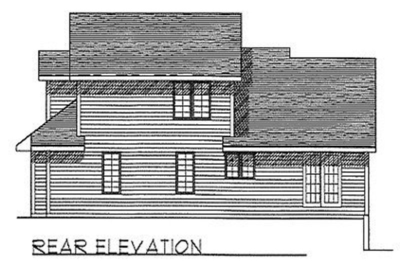 Traditional Exterior - Rear Elevation Plan #70-272 - Houseplans.com