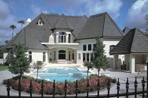 European Exterior - Rear Elevation Plan #417-563 - Houseplans.com