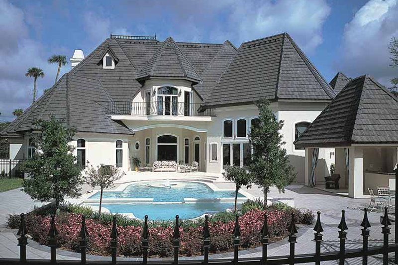 Dream House Plan - European Exterior - Rear Elevation Plan #417-563