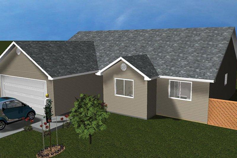 Ranch Exterior - Front Elevation Plan #1060-14 - Houseplans.com