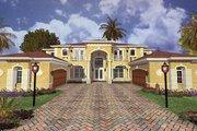 Mediterranean Style House Plan - 5 Beds 5 Baths 5754 Sq/Ft Plan #420-179