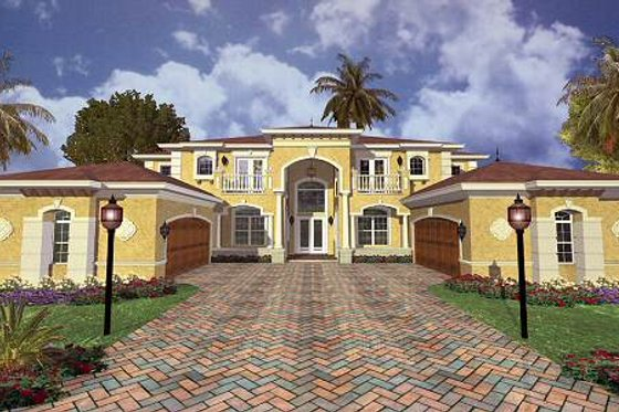 Mediterranean Exterior - Front Elevation Plan #420-179