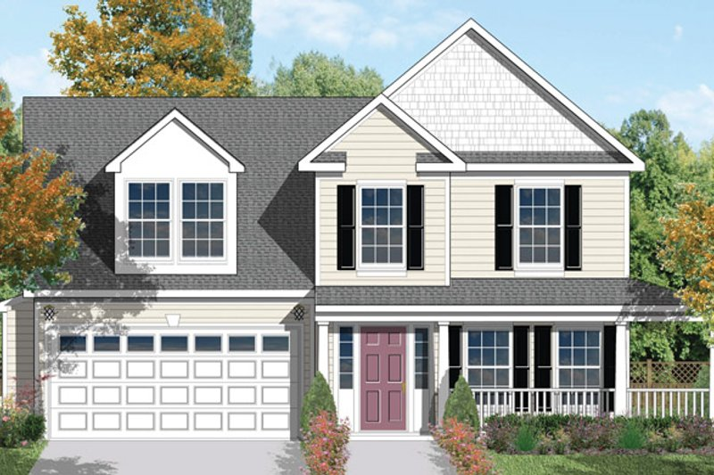 Country Exterior - Front Elevation Plan #1053-9