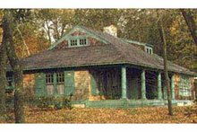 House Plan Design - Country Exterior - Rear Elevation Plan #961-1