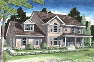 Dream House Plan - Classical Exterior - Front Elevation Plan #1029-1