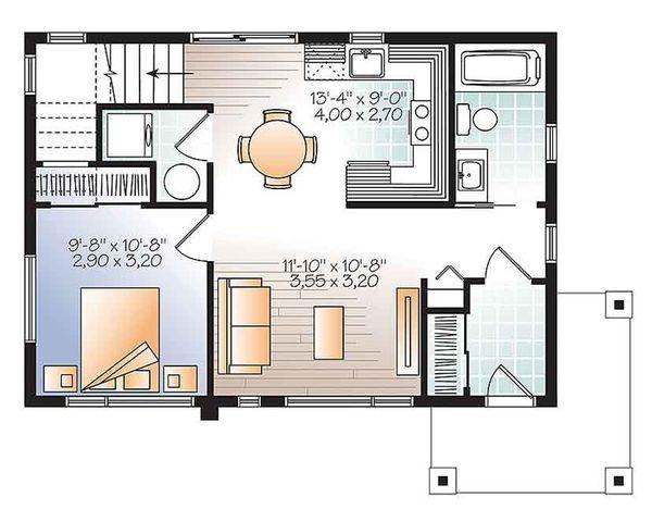 Contemporary Floor Plan - Main Floor Plan Plan #23-2601