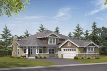 Dream House Plan - Craftsman Exterior - Front Elevation Plan #132-372