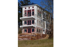 Dream House Plan - Contemporary Exterior - Rear Elevation Plan #928-249