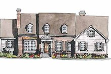 Home Plan - Colonial Exterior - Front Elevation Plan #429-177