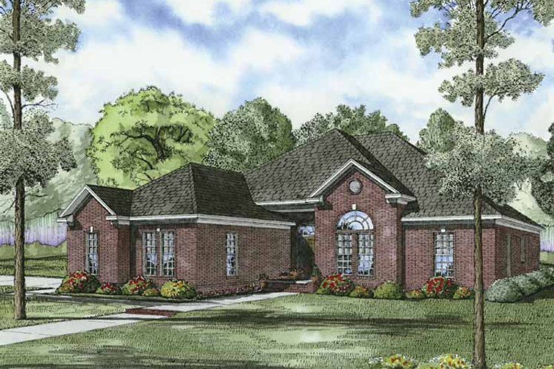 Traditional Exterior - Front Elevation Plan #17-2849