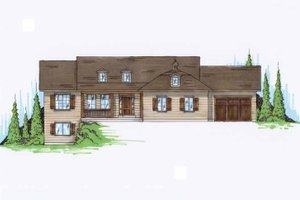 Traditional Exterior - Front Elevation Plan #945-90