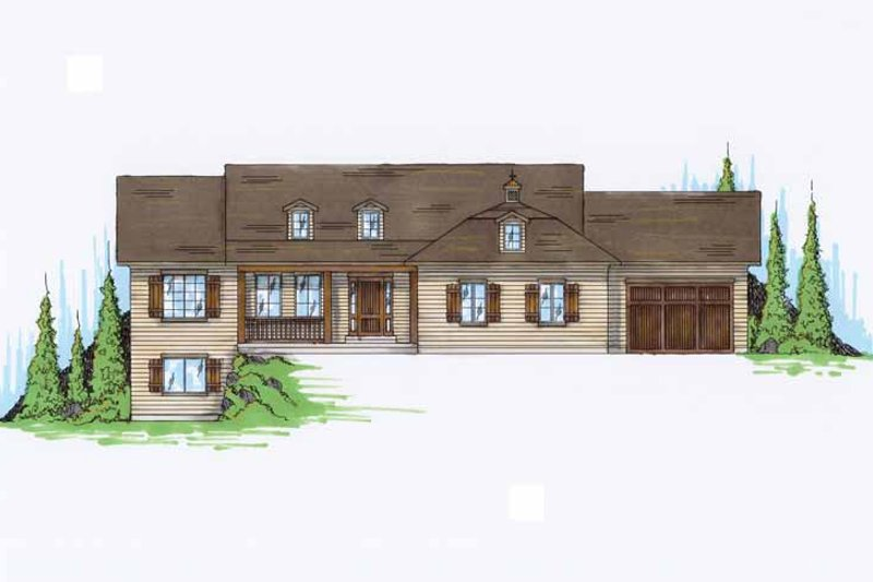 House Plan Design - Traditional Exterior - Front Elevation Plan #945-90