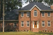 Colonial Style House Plan - 4 Beds 3 Baths 2104 Sq/Ft Plan #30-206 Exterior - Front Elevation