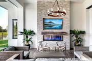 Contemporary Style House Plan - 4 Beds 5 Baths 3718 Sq/Ft Plan #930-477 Exterior - Outdoor Living