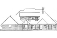 European Exterior - Rear Elevation Plan #310-696