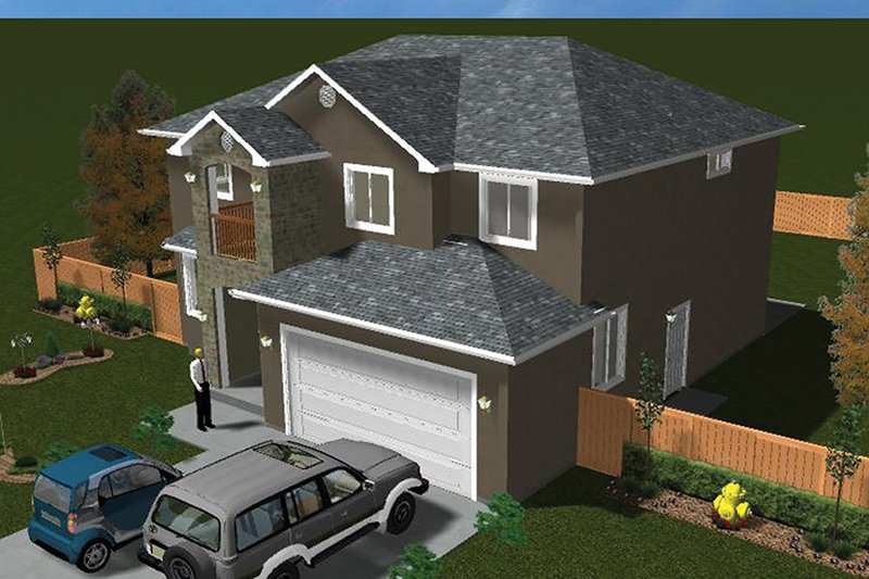 Traditional Exterior - Other Elevation Plan #1060-7 - Houseplans.com